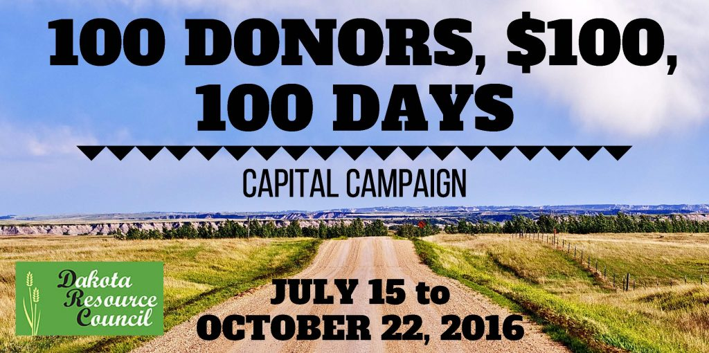 100 DONORS,$100,100 DAYS