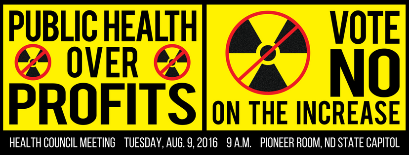 health council hearing Tuesday, Aug. 9, 2016 9 a.m. Pioneer Room, ND State Capitol