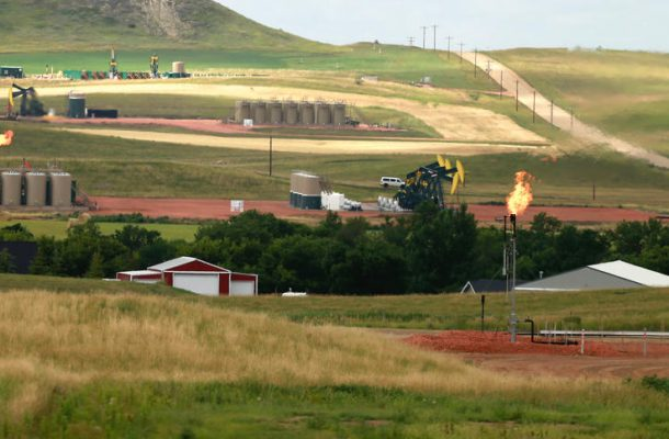 Oil production sites are pictured in McKenzie County, N.D., on Thursday, July 28, 2016. Eric Hylden / Forum News Service