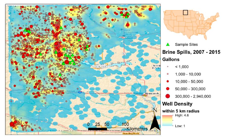 Duke Report Brine Spills Mapped